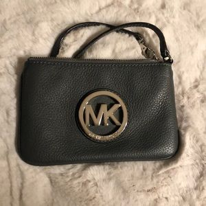 Micheal Kors leather wristlet